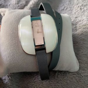 Mother of pearl wrap watch